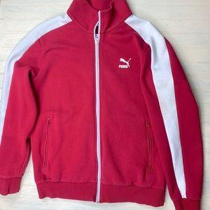 Puma Zip Up Red Logo Jacket